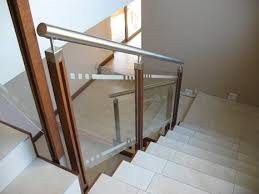 panel stainless steel ss wood railing with glass
