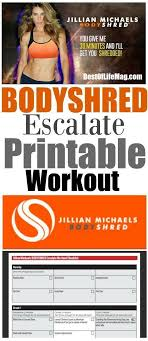 our bodyshred escalate printable workout checklist will help you stay on track with your bodyshred workout program no matter where you are