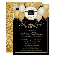 Elegant Graduation Announcements Class Of 2019 Elegant Modern Black Gold Graduation Invitation