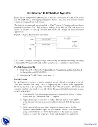 Embedded Systems Design Notes Introduction Embedded System Design Lab Notes Docsity