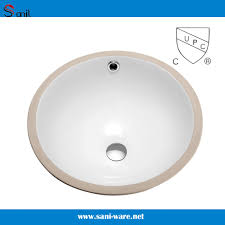 China 14 Inch Bathroom Undermount Porcelain Sink with Upc ...