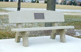 Doty U0026 Sons Memorial Benches With Backs  ALL CONCRETE CLASSIC Stone Benches With Backs