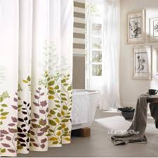 fall leaves shower curtain in white and gray bathroom... Sophisticated Fall Shower  Curtains