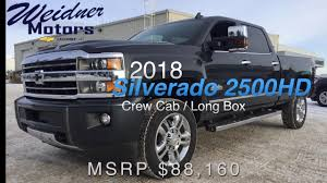 2018 chevrolet silverado 2500hd crew cab long box 3lz 4x4 black 18n109 weidner motors ltd