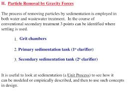 Design Of Primary Sedimentation Tank Ppt Secondary Treatment Process Sequence Powerpoint