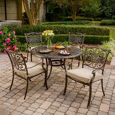 Hanover Outdoor Furniture Traditions 5-Piece Bronze Aluminum Patio Dining  Set
