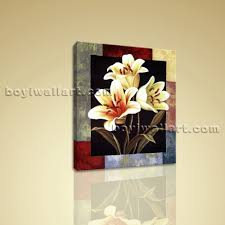 contemporary abstract floral canvas print flower wall art for bedroom home decor ebay on yellow wall art ebay with contemporary abstract floral canvas print flower wall art for