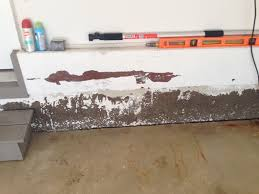 garage wall paintgarage concrete wall  paint peeling foundation color stains