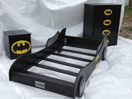 image of awesome batman toddler bed frame