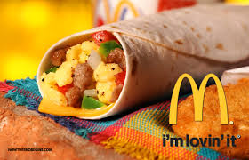 how many calories in a mcdonald s breakfast burrito
