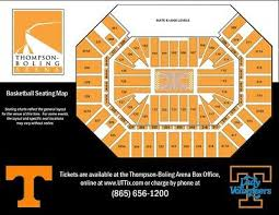 Thompson Boling Arena Seating Chart With Rows 4 Tennessee Volunteer Basketball Season Tickets Lower Level Parking Pass Ebay