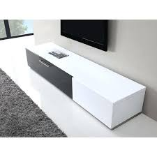 b modern producer white black stand with glass tv lacquer