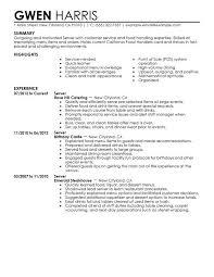 cocktail server resume manual machinist resume