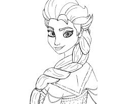 Elsa Di Spalle Disegni Da Colorare Gratis Disegni Da Colorare E