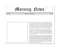 Fake Newspaper Template Word Writing A Feature Article Template Word Newspaper Format To