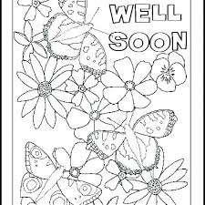 Get Well Soon Cards Printables Get Well Soon Card Template Printable Cards Valentine Black And