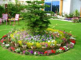 Round Flower Bed With Pots Gorgeous And Creative Ideas To Try Wisma Home