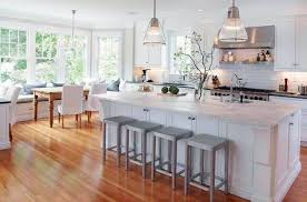 white country kitchen designs. Modren Designs Low Gray Backless Stool Traditional White Country Kitchen  15 Cool  Interior Design Ideas And White Country Kitchen Designs P