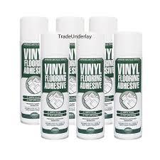 vinyl flooring spray adhesive 6 x 500ml