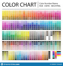 color chart color chart print test page color numbers or names rgb