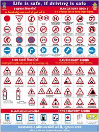 Road Signs Chart India Traffic Signs Transport Department Gujarat