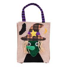 Ustyle <b>Halloween</b> Linen Cloth <b>Pumpkin Witch Pattern</b> Gifts Candy ...
