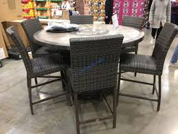 agio 7pc high dining set with fire