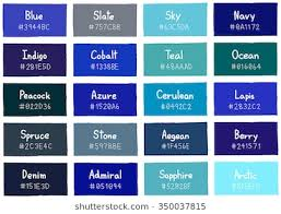 indigo blue color. Beautiful Color Blue Tone Color Shade Background With Code And Name Illustration Intended Indigo