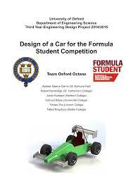 Fsae Chassis Design Report Dlscrib Com Oxford Octane Formula Student Report