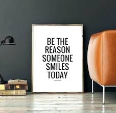 inspiring office decor. Motivational Office Decor Wall Art Digital Print Poster Be The Reason Someone Smiles Today Printable Typography Inspiring I