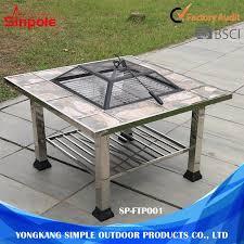 multifunctional stainless steel outdoor janpenes or korean bbq grill table