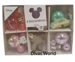 Disney Mickey And Minnie Mouse Light Up Holiday Tree Topper Disney 6x Baubles Mickey Minnie Mouse Christmas Tree Decoration Primark