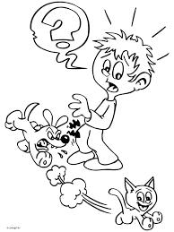 Kleurplaat Hond En Kat Hebben Ruzie Kleurplatennl
