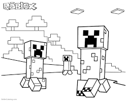 Roblox Minecraft Coloring Pages Creepers Free Printable Coloring Pages