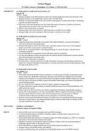 Fundraising Officer Sample Resume Fundraising Manager Resume Samples Velvet Jobs 9