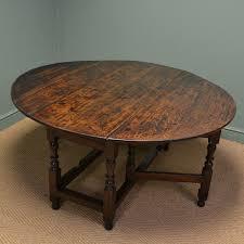 oak dining table. Large Early Eighteenth Century Drop Leaf Gate Leg Oak Dining Table