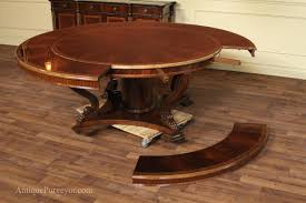 dining room round table with leaf extension style
