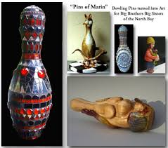 Decorated Bowling Pins CProppé Artist's Blog In The Studio Today Bowling Pin Art 83