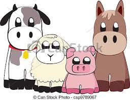 cute farm animals drawings. Modren Farm Farm Animals  Csp9789067 In Cute Animals Drawings I