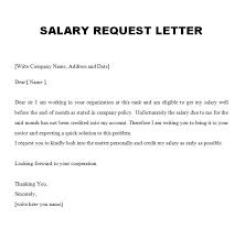 Format Of Official Letter Official Letter Format For Salary Increment Tripevent Co