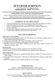 Resume Example Work Experience