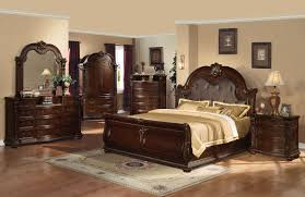 Bedroom Sets Full Size Table Lamp On Bedside Dark Brown Wooden Table ...