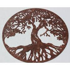 tree of life sign metal wall d cor on wall art metal tree of life with metal wall art tree of life wayfair