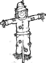 free printable scarecrow coloring pages page print color craft sheets