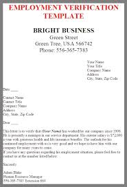 Best Solutions Of Business Letter For Employment Verification