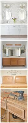 Raising Bathroom Vanity Height Tip 1st We Updated The Builder Grade Cabinet Into A Floating