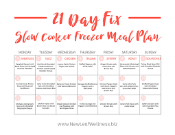 21 Day Fix Meal Chart The Ultimate 21 Day Fix Slow Cooker Freezer Meal Plan The