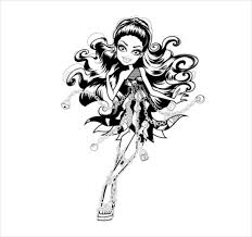 Spectra Monster Coloring Page PDF Free Download monster high coloring page 20 free psd, ai, vector eps format on young anime girl template