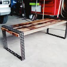 Furniture For Man Cave Room Diy Steel Chain Coffee Table