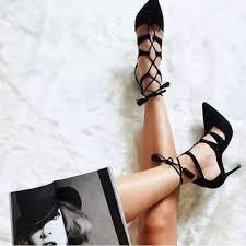 Schutz Shoes Size Chart Schutz Shoes New Schutz Zora Suede Lace Up Heels Black 6